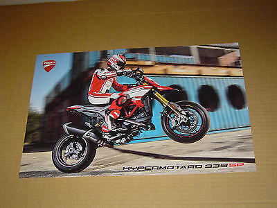 "2016 DUCATI MOTORCYCLES HYPERMOTARO 939 SP 2-SIDED POSTER MINT! 11""x17"""