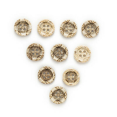 30pcs Coconut Buttons Pattern Gift Sewing Scrapbooking Clothing Decor 13mm