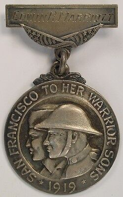 Officially Named San Francisco CA State California World War Local Service Medal