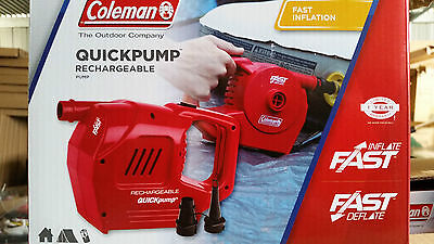 coleman inflatable quick pump 240 v+12v rechargable  latest
