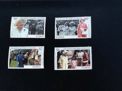 Samoa 1999 Queen Mothers Century SG1049/52 MNH