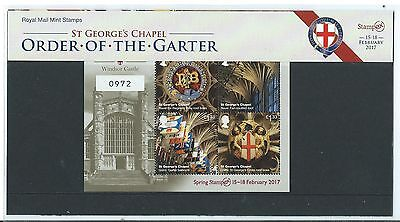 GREAT BRITAIN 2017 WINDSOR CASTLE LTD EDITION No. 0972 STAMPEX OVERPRINTED .