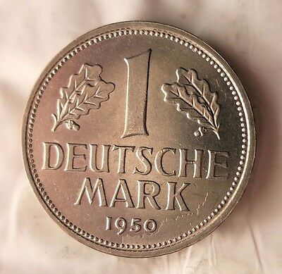 1950 J Germany Deutsche Mark - Au - Free Ship - German Bin #14