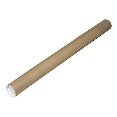 """EcoBox 2"""" x 24"""" Kraft Mailing Tubes with End Caps New"""