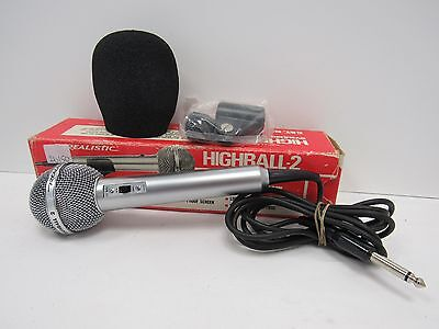 Vintage Realistic Highball 2 Dynamic Microphone Mic 33-985C - BST L60