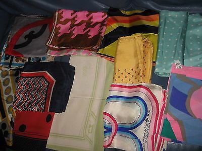 1 vintage1960/70'S  DESIGNER SILK SCARVES SCARF VARIOUS MAKES AS SHOWN HAND ROLL