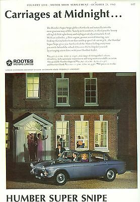 1965 Humber Super Snipe Colour Magazine Advert