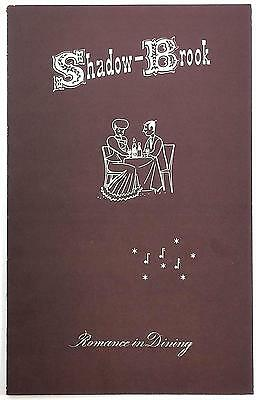 1960's Vintage Menu SHADOWBROOK ON THE RIVER Restaurant Capitola By The Sea CA