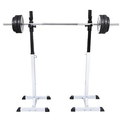 S# New Barbell Squat Rack Dumbbell Holder Home Gym Fitness Weight Equipment Stor