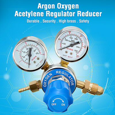 Regulator / Flow Meter Stainless Steel Oxygen Pressure Reducer 2 Gauge NEW