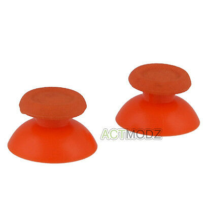 Solid Orange Analog Thumbsticks Buttons Repair for Dualshock 4 PS4 Controller