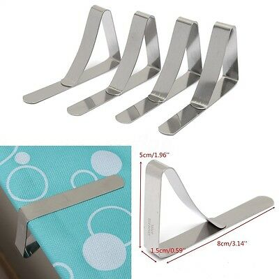 4-20Pcs Pince Nappe en Inox Accroche Attache Fixe Serre Clip Pr Table Universel