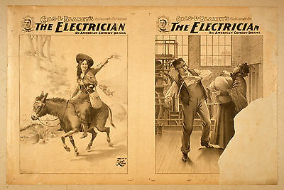 Photo Print Vintage Poster: Stage Theatre Flyer The Electrician 02