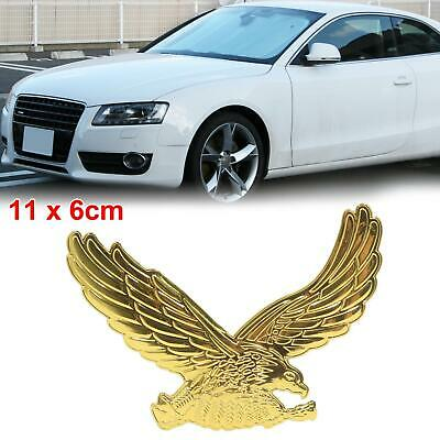 2Pcs Gold Tone Eagle Design Car Exterior Reflective Sticker Decor