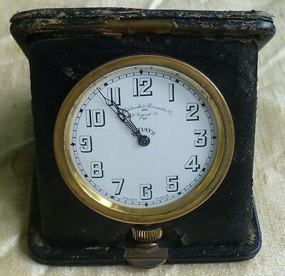 Antique Travelling Clock Goldsmiths & Silversmiths Regent Street * Swiss  8 day
