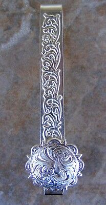 Horse show Number Holder Clip  showing Silver XX fancy scallped edge Holds tight