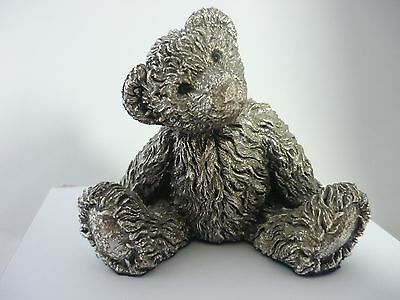Stunning Large Vintage Sterling Silver Teddy Bear By Country Artists