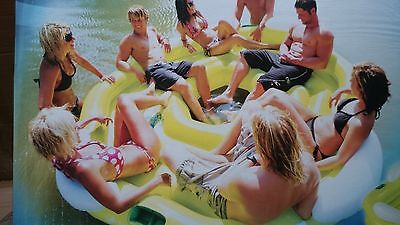 inflatable water ski tube party island 8 person sevylor