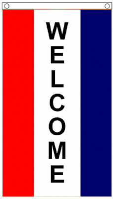 WELCOME Vertical 3'x5' Flag