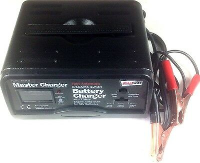 HEAVY DUTY 12v battery charger car van 75A jump starter automatic 2A 6A 12A boat