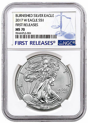 2017-W Burnished American Silver Eagle NGC MS70 First Releases SKU47982