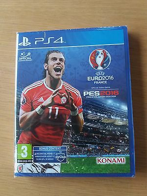 PS4 GAME **** PES 2016 EURO 2016 **** Pro Evolution Soccer **** NEW SEALED