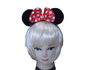 Minnie Mouse Ears Girl Mickey Headband with Bow Hen Night Fancy Dress Party Ears