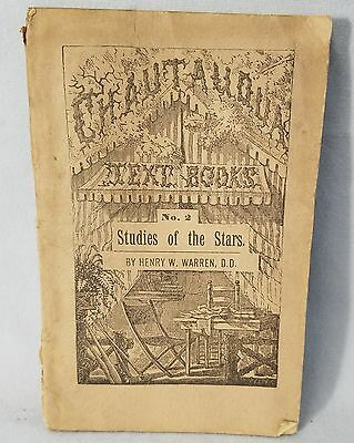 1883 Studies Of The Stars By Henry W. Warren, D.D. 54 Pages NO Reserve