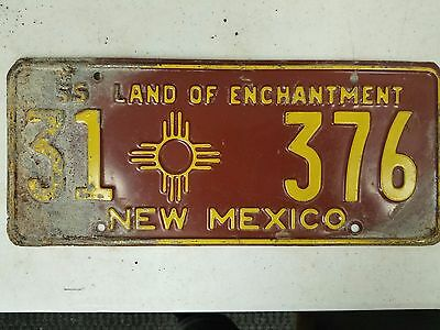 1955 NEW MEXICO Harding County The Land of Enchantment License Plate 31 376
