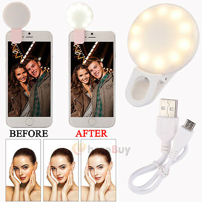 Mini Selfie Flash Clip-On LED Fill Camera Lamp Light For iPhone 7 Samsung Galaxy