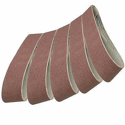5 Pack Sanding Belts 100 x 915mm (80 Grit) Compatible with Draper Belt Sander