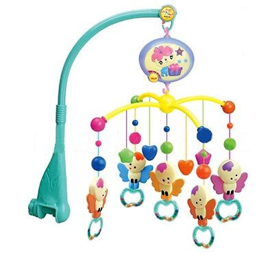 Baby Bed Mobile Bell Music Box Crib Ring Hanging Rotate Toy Holder Arm Bracket