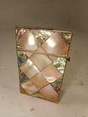 Antique Abalone & Mother of Pearl Card Case   ref 2905
