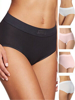 Straightforward *4 Pack* Sloggi Basic Women Maxi Briefs 10189958 High Rise 95% Cotton Knickers Panties