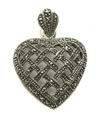 925 Sterling Silver jewelry fashion network heart heart pendant necklace X09