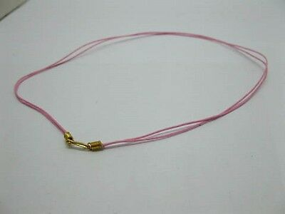 95 Pink 2-String Waxen Strings For Necklace Golden Clasp