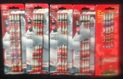 5 - 4  pks - 20 total Vintage Coca Cola Pencils - 1996, 97, 98 -      #1