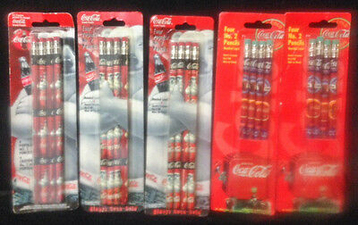 5 - 4  pks - 20 total Vintage Coca Cola Pencils - 1996, 97, 98 -        #3