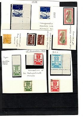 Nepal - 1958 onwards - MNH/MM/Used onwards Collection  including some marginal