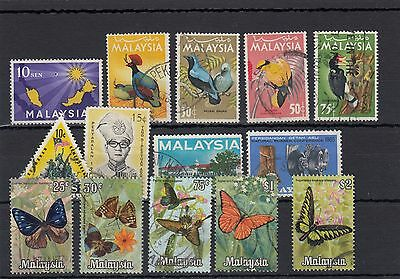 Malaysia. 14--1963/70 Used Stamps On Stockcard