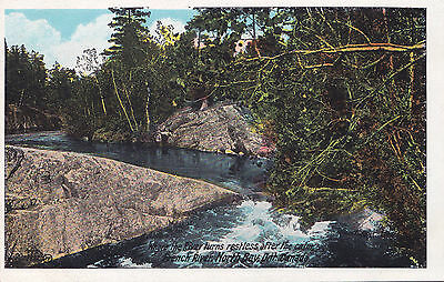 French River NORTH BAY Ontario Canada 1920-30s Valentine-Black Postcard