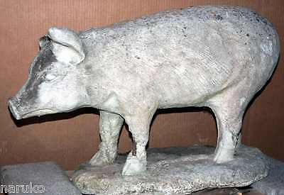SUPER LIFE SIZE TRADE SIGN OF PIG LATE 19thC PLASTER FROM EARLY BUTCHER'S SHOP