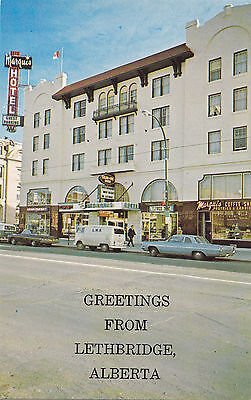 The Marquis Hotel LETHBRIDGE Alberta Canada Advertising Postcard