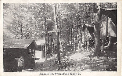 Bungalow Hill Wynona Camp FAIRLEE Vermont USA 1915-30 Frank W. Swallow Postcard