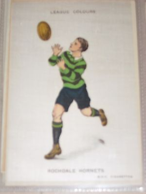 Rugby League : Rochdale Hornets B.D.V, Silk Large 6 x 4 inch - Godfrey Phillips