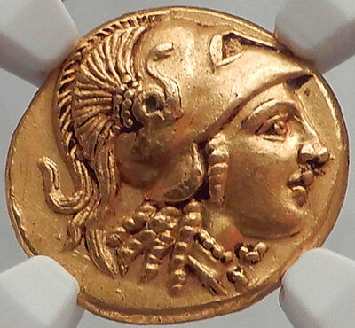 ALEXANDER III the Great - NGC Certified Ch AU Authentic Ancient Greek GOLD Coin