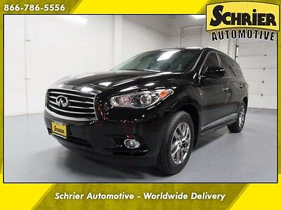2014 Infiniti QX60 Base Sport Utility 4-Door Infiniti QX60 Black HID 7 Passenger Bose Power Lift Gate Heated Leather Sunroof