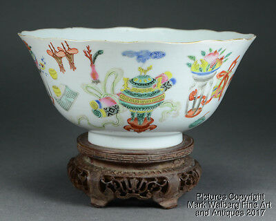 Chinese Famille Rose Porcelain Bowl, 100 Treasures, Daoguang Mark & Period,19thC