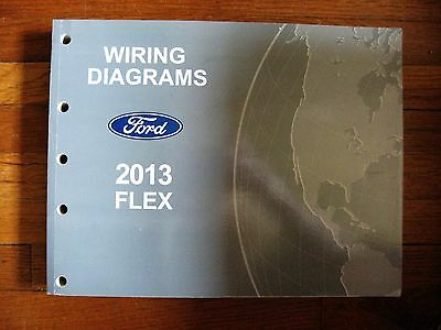 2013 ford flex electrical wiring diagram service shop dealer repair manual