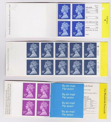 GREAT BRITAIN 3 Booklets B8806
